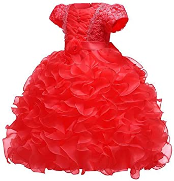 02d9d1ef4 Amazon.com  Baby Girl Dresses Ruffle Lace Pageant Party Wedding ...