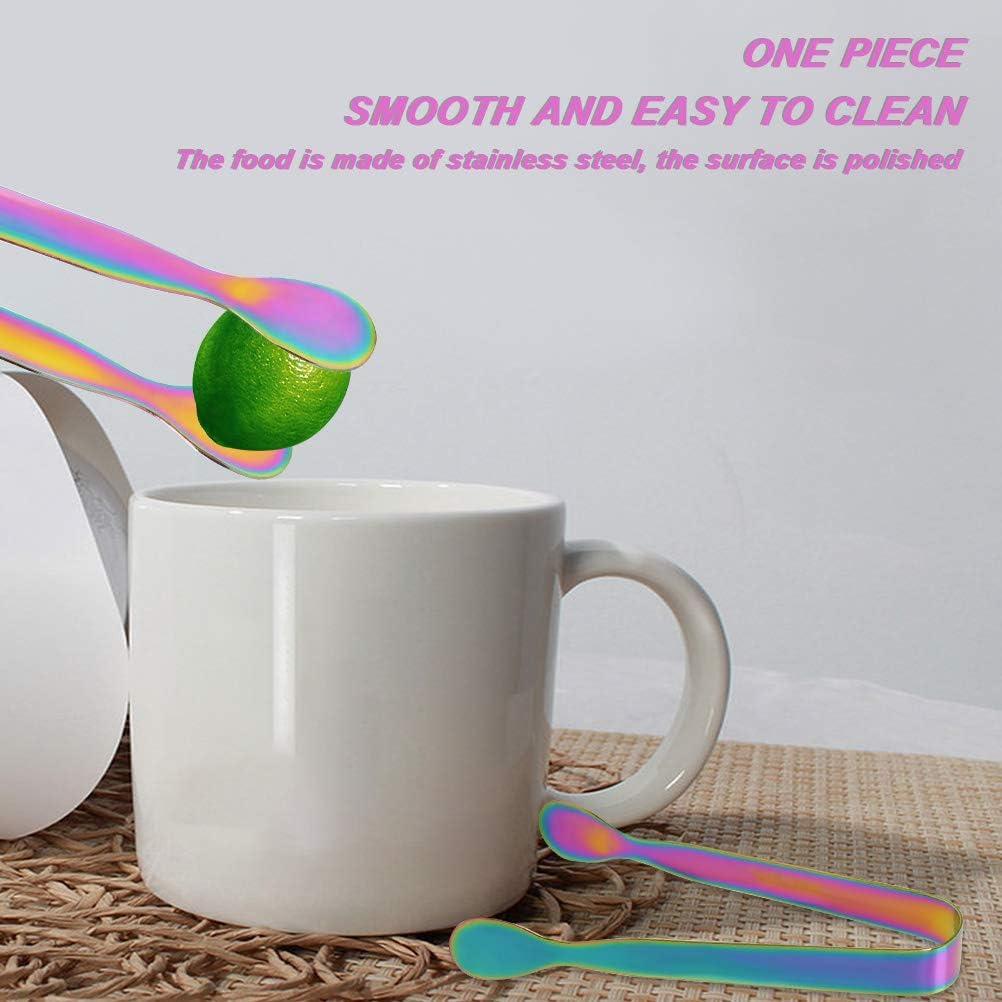 YOTINO 8 pi/èces Pince /à Gla/çons en Acier Inoxydable 304 Pinces /à Sucre Multicolore pour Caf/é Th/é et Boisson