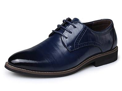 69bbffb42bfe Eagsouni™ Herren Halbschuhe Derby Schnürhalbschuhe Leder Oxford Business  Schuhe
