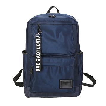 LINNUO Mochilas Viaje Hombres Backpack Casual Escuela Daypack Trekking Bolsa de Universidad Adolescente (Azul,28*44*15cm): Amazon.es: Equipaje