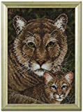 "Bucilla Heirloom Collection Cougar Family Counted Cross Stitch Kit-5x7"" 18 Count"