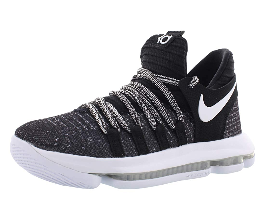 brand new 16e62 59444 Nike Zoom KD10 B07CBBWK1H (GS) Basketball Shoes (7 M US Big Kid,  Black/White)
