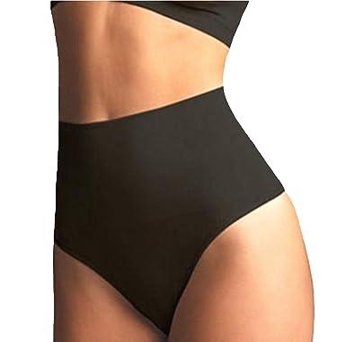 08a6afeb1cb384 FIRSTLIKE Women Waist Cincher Girdle Tummy Slimmer Sexy Thong Panty  Shapewear Black