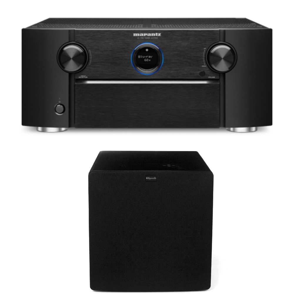 Marantz AV7703 Home Theater Preamp/Processor with 11.2 Channel Processing and Dolby Atmos with Klipsch SW-311 Subwoofer