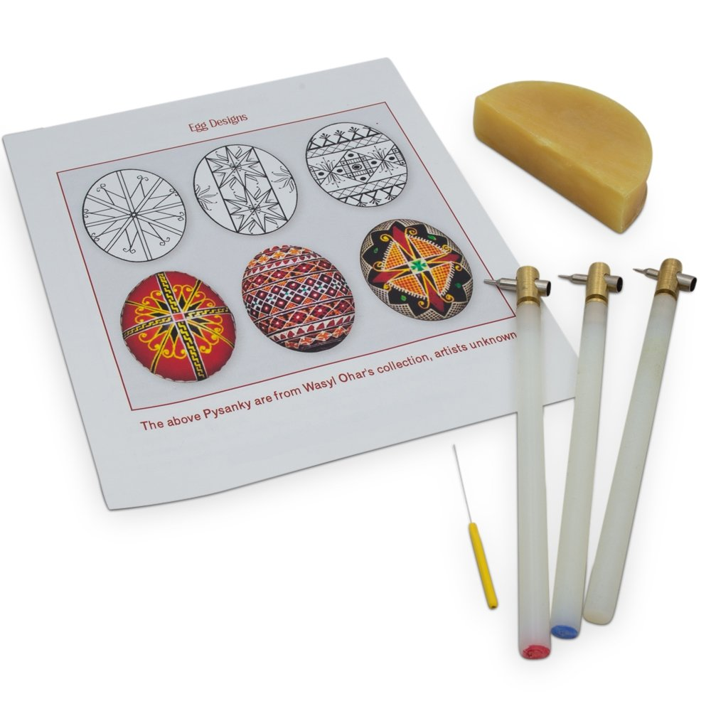 Amazon.com: 3 Kistkas, Beeswax, Cleaning Wire & Instructions Egg ...
