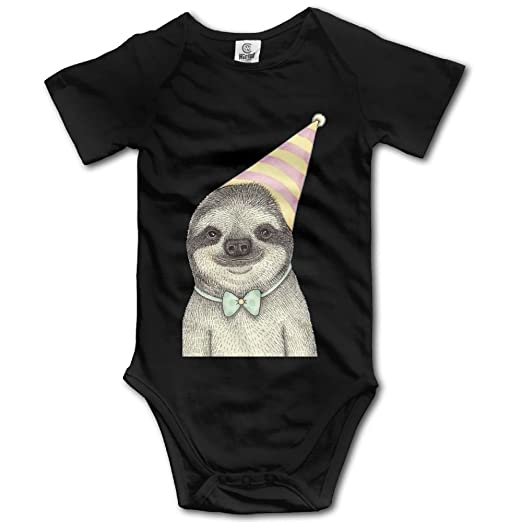 7d1c88894a7 Amazon.com  A Sloth with A Birthday Hat Newborn Infant Baby Short ...