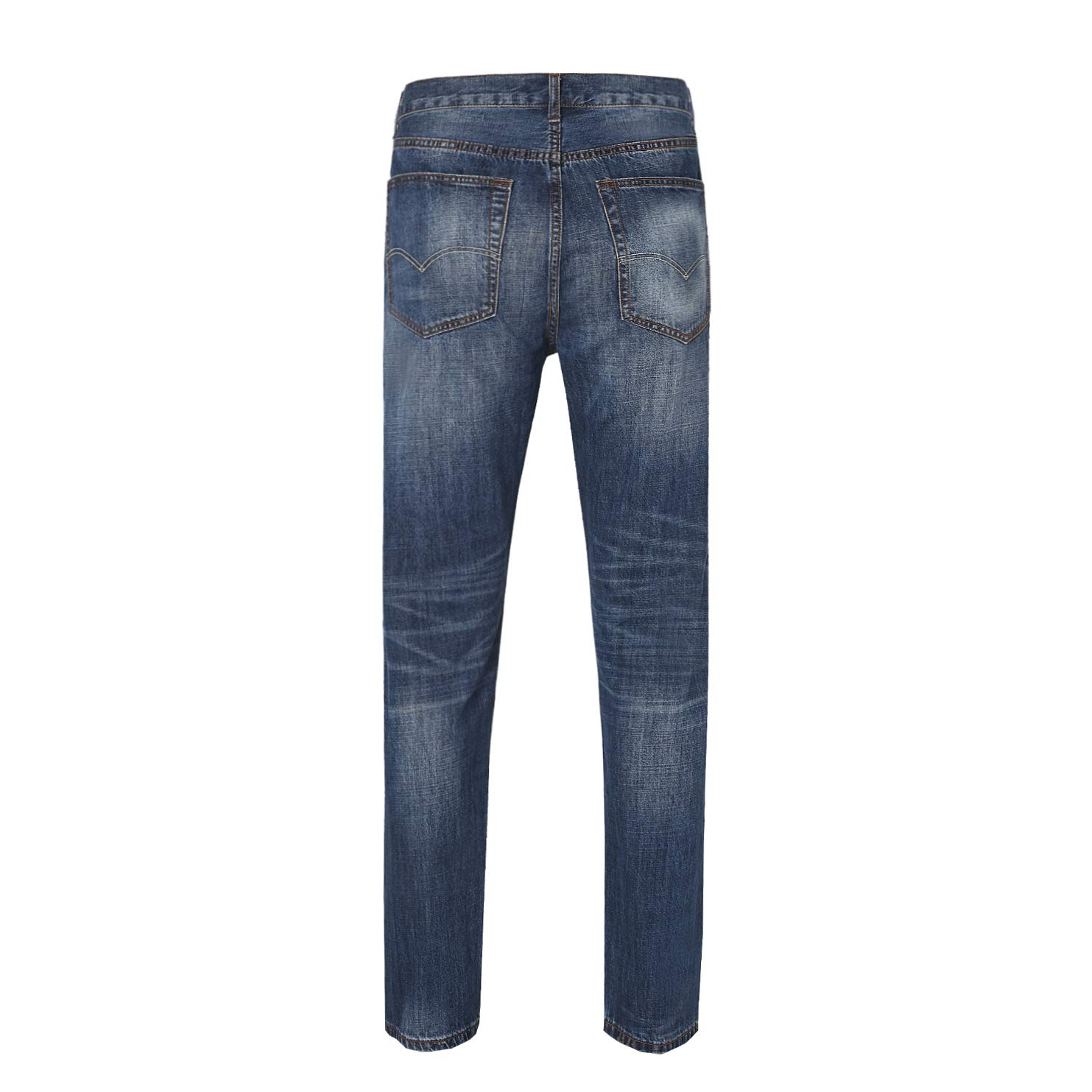YITUOHEBANG Mens Relaxed Fit Jeans