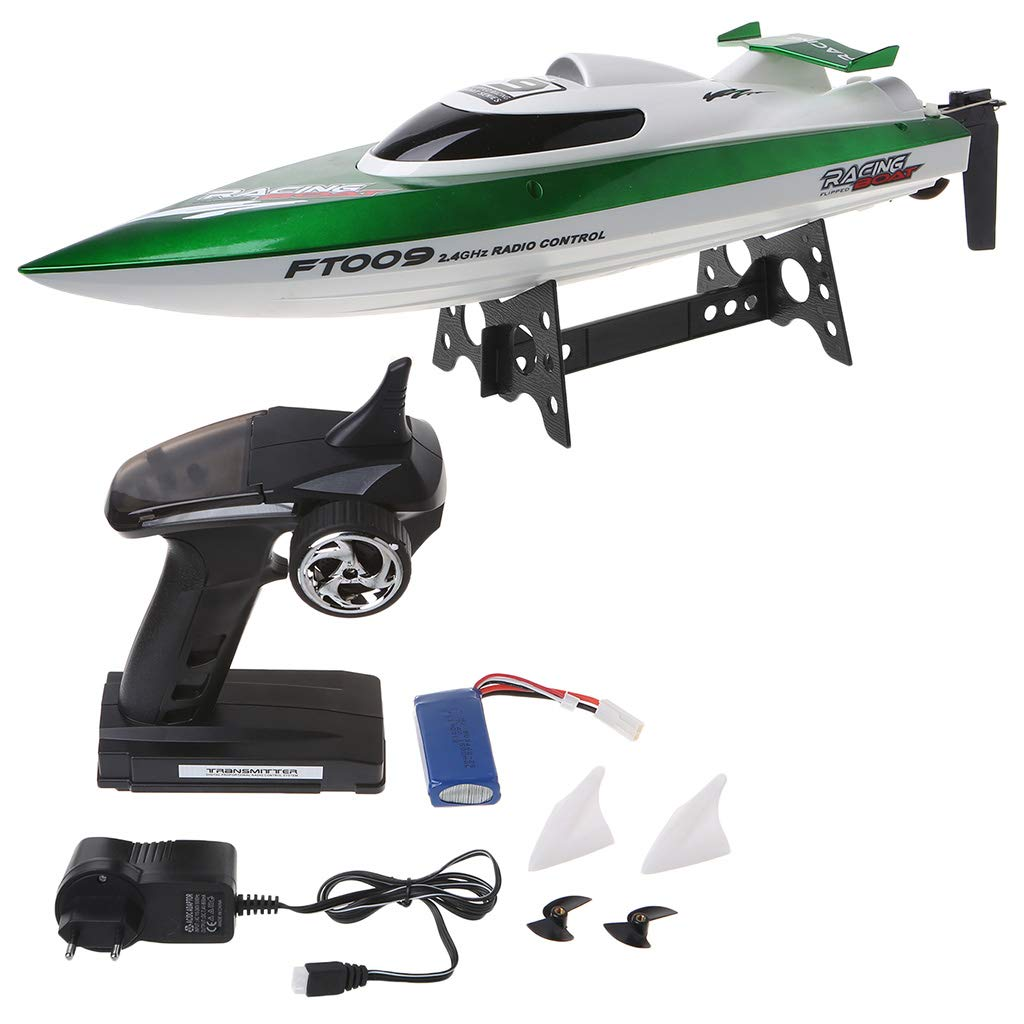 Shaoge High Speed Racing RC Boat FT009 2.4G 4CH Radio Control Boats with Rectifying Function Water Cooling and Self-righting Toy by Shaoge