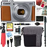Canon PowerShot G9 X Mark II 20.1MP Digital Camera + 32GB Deluxe Accessory Bundle (Silver)