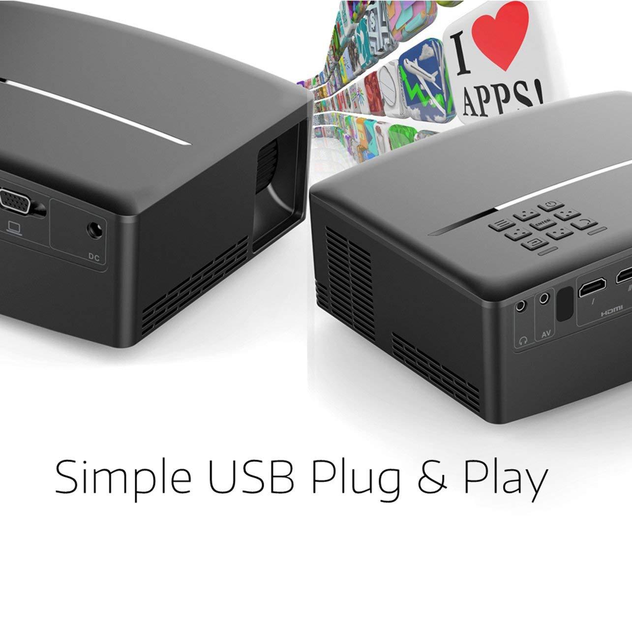 GP80 Proyector 3D Profesional HD Inteligente para Cine en casa ...