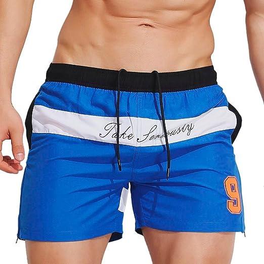 e29b2872644 IEason Mens Breathable Swim Trunks Pants Swimwear Shorts Slim Wear Bikini  Swimsuit 2XL=(US
