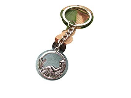 Amazon.com: Tiny Keychain, sirena Mermaid joyas, llavero ...