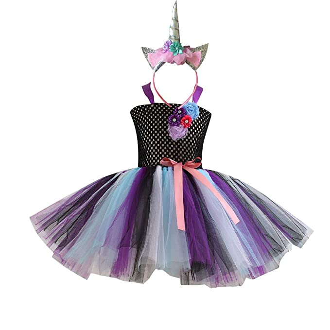 81c78e4967b35 Amazon.com: ACOGNA Girls Unicorn Headband Costume Pageant Flower ...
