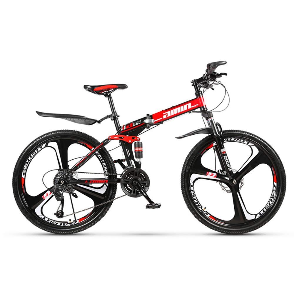 Seleccione de las marcas más nuevas como - Xiaochao Bicicleta De Montaña, Montaña, Montaña, Bicicleta De Velocidad Variable De Acero Al Carbono De 30 Velocidades, Bicicleta Plegable De 26 Pulgadas con Doble Amortiguación,6cutterwheel  precioso