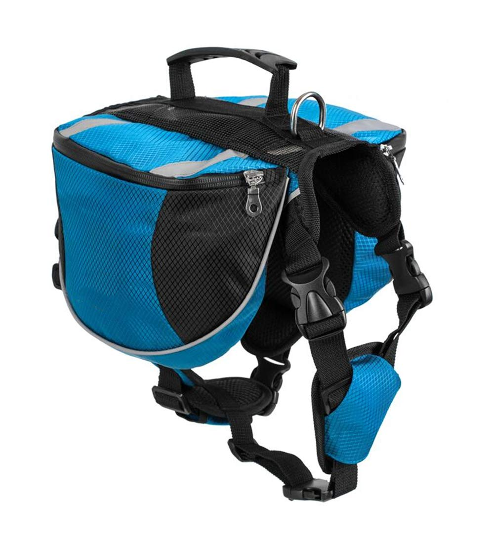 Gorgeous bluee L gorgeous bluee L ZIOFV Package Pet Outdoor Backpack Large Dog Adjustable Saddle Bag Harness Carrier for Traveling Hiking Camping
