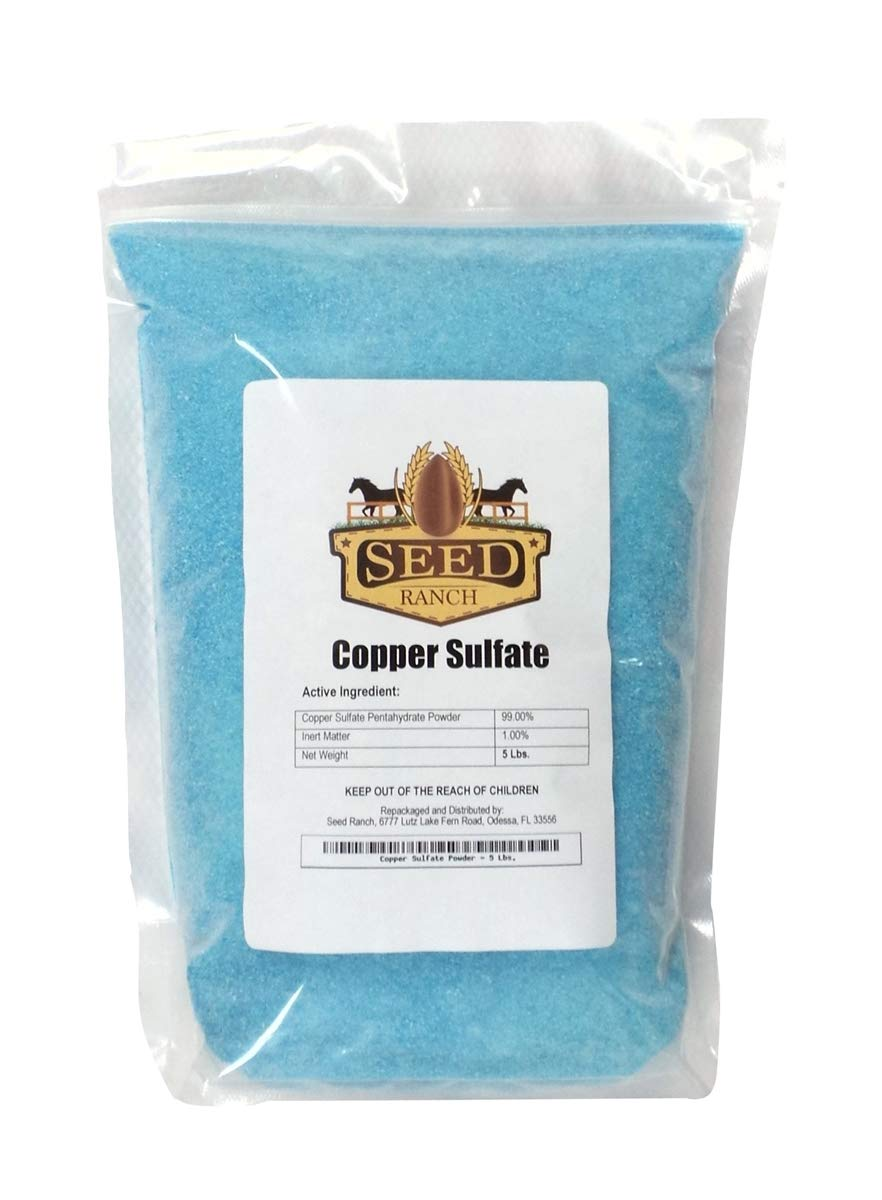 Copper Sulfate Crystals - 10 Lbs. [FINE Grade] by SeedRanch
