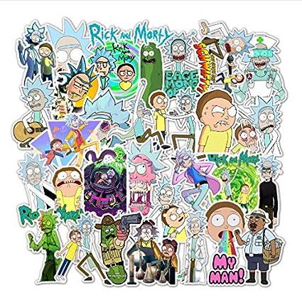 American Drama Rick y Morty Pegatinas de Dibujos Animados ...