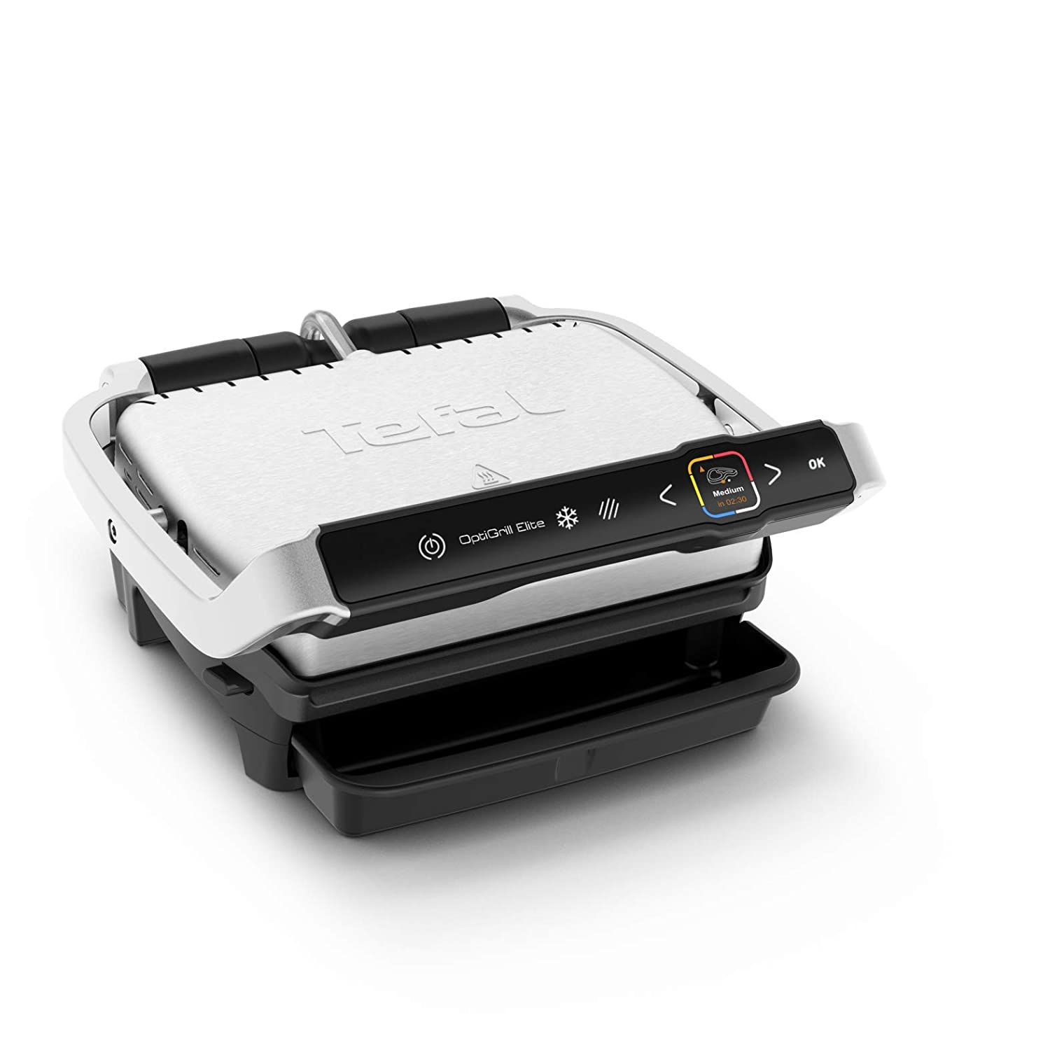 Tefal OptiGrill Elite GC750D 2000 - Barbacoa de contacto (acero ...