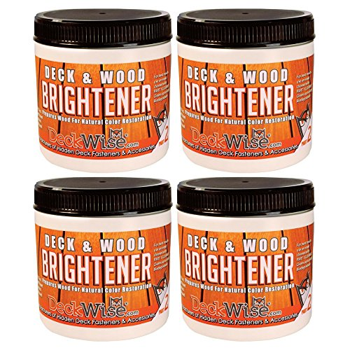 DeckWise Deck & Wood Brightener 16 oz. for 600 Sq. Ft. of Decking (4 pack) by DeckWise