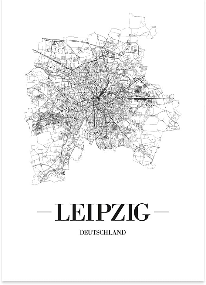 New York City Schwarz Kunstdruck Plan Map JUNIWORDS Stadtposter