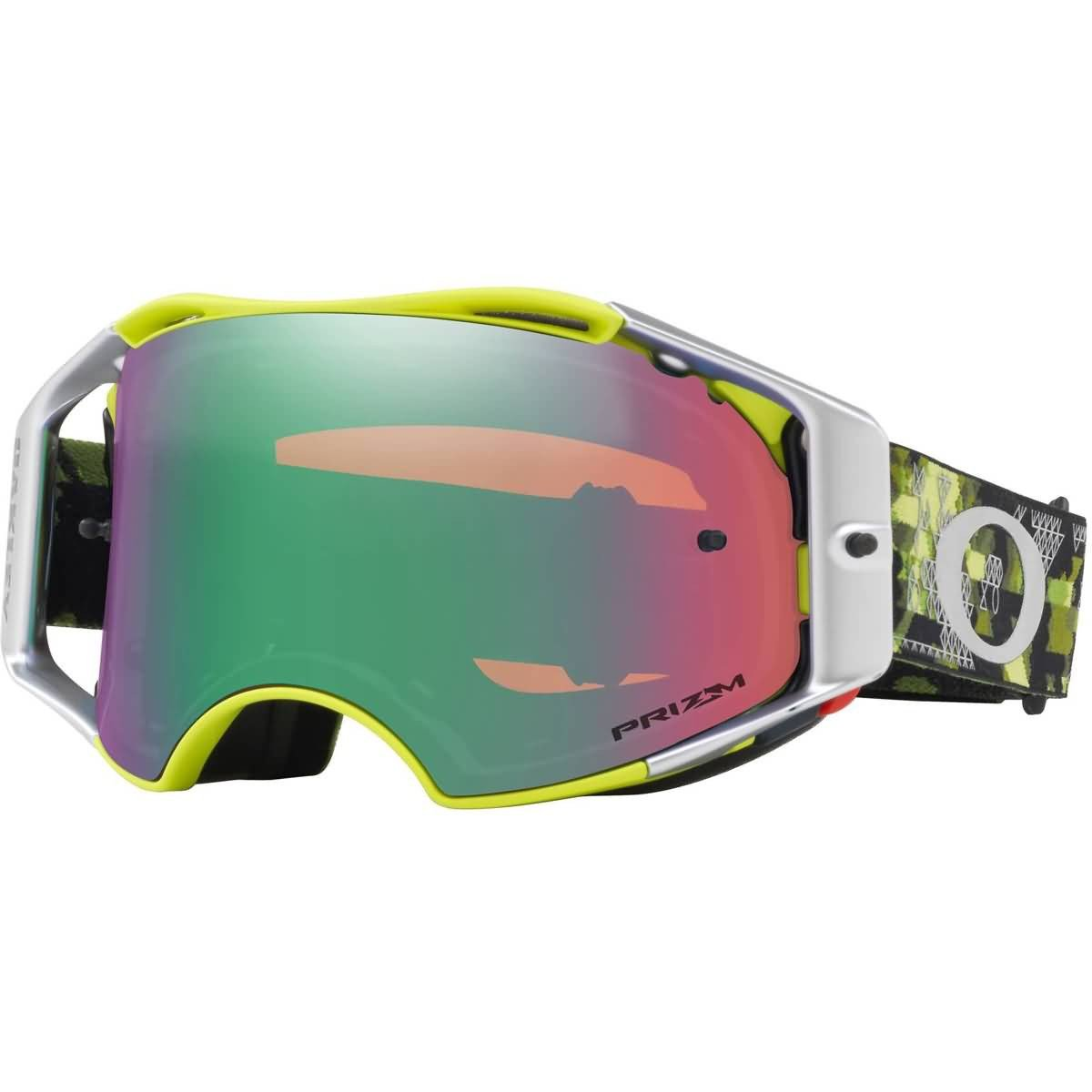 Oakley Airbrake MX Tomac SIG Mil.DigiGrn with PrizmMXJade unisex-adult Goggles (Green, Medium), 1 Pack