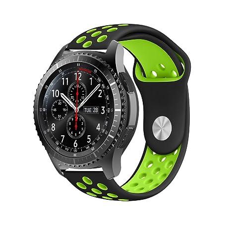 Gear S2 Bracelet de Montre en Silicone avec Trous daération pour Samsung Gear S2 Classic Smartwatch, Gear Sport ...
