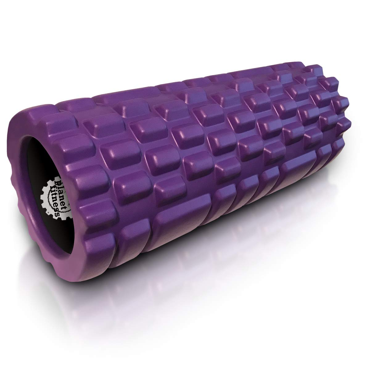 Planet Fitness Muscle Massager Foam Roller for Deep Tissue Massage, Back, Trigger Point Therapy, Purple 13''