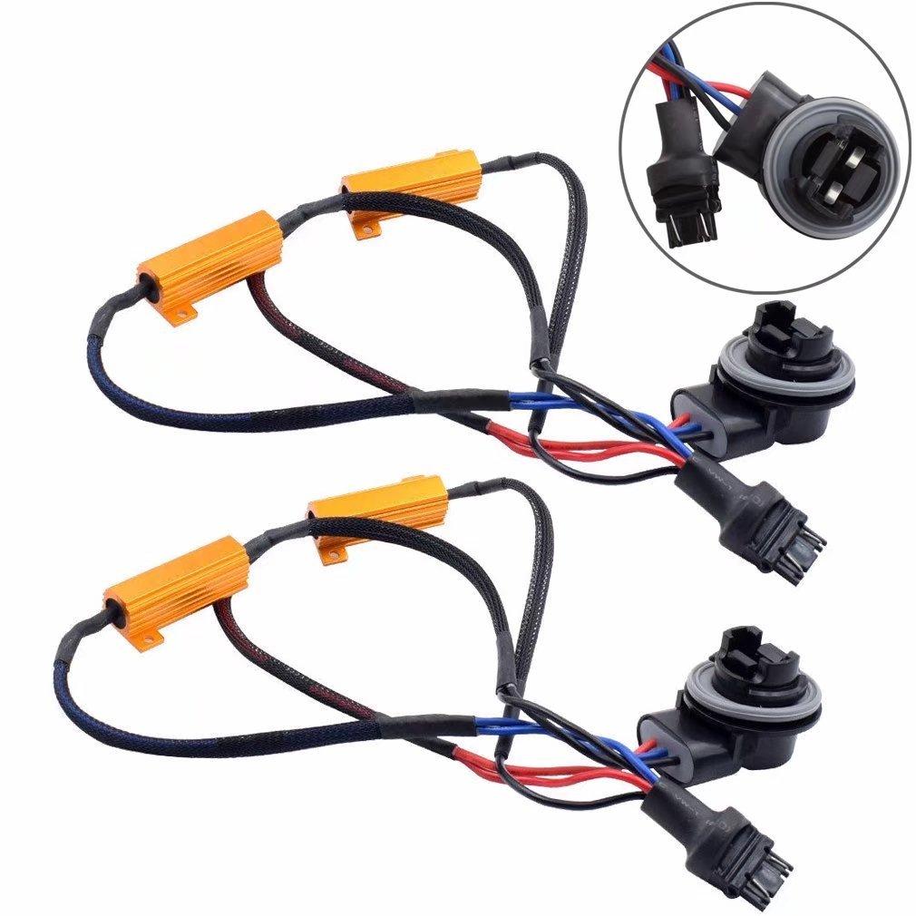 Jahyshow 3157 3057 4157na 50w 6ohm Error Free Led Lights Load Srck Ck Bulb Wiring Tail Light Brake Turn Signal Resistor Adapter Fix Flashing Fast