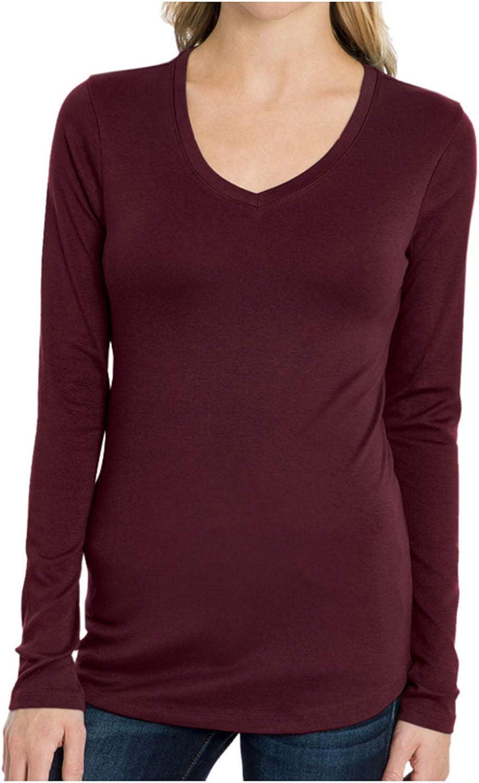 Eddie Bauer Ladies Long Sleeve V-Neck Shirt