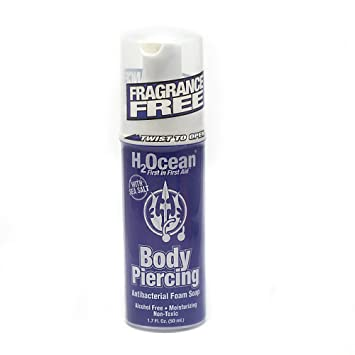 Amazon Com H2ocean Body Piercing Aftercare Antibacterial Foam