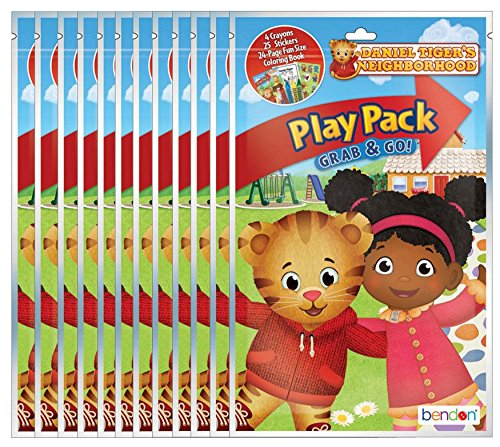 Bendon PBS Kids' Daniel Tiger's Neighborhood Grab and Go Play Packs (Pack of 12)]()