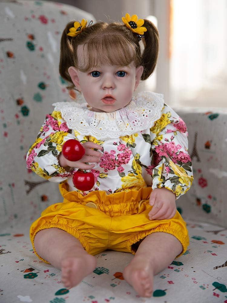 Rebornova Reborn Baby Dolls 20 Inch with Soft Body Lifelike Realistic Girl Doll Best Birthday Gift Set for Girl Ages 3+