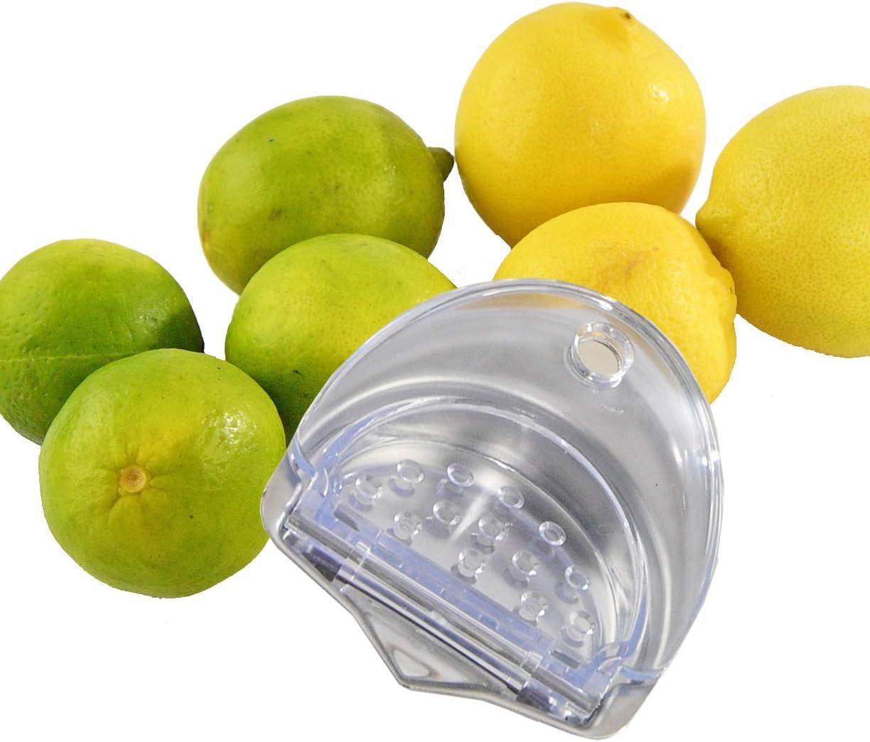 "HOME-X Citrus Juicer Kitchen Accessories, Handy Lemon and Lime Juice Extractor, Lemon Squeezer-Aluminum and BPA Free Plastic-Dishwasher Safe- 3.5"" D"