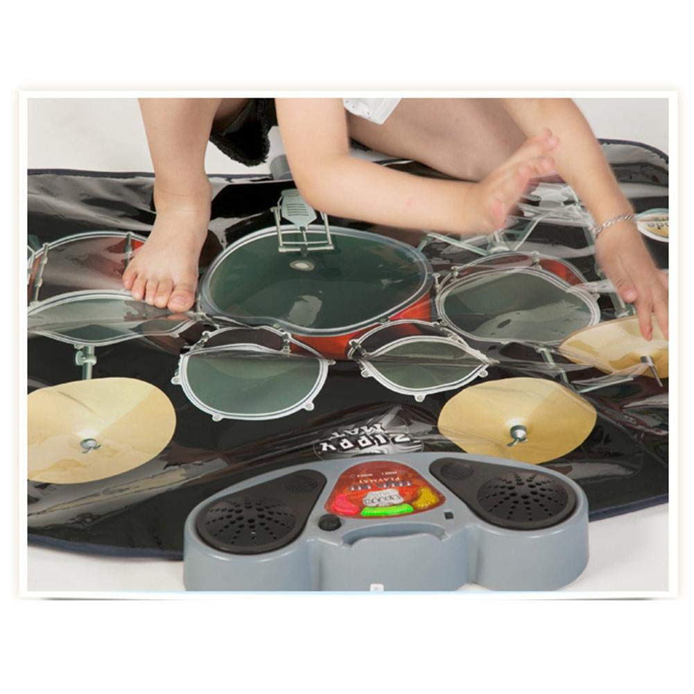 Music Mat Piano Mat 2-in-1 Functional Drum & Piano Foldable Music Mat Carpet Game Machine, Early Educational Toys for Kids, Dance and Learn by Wind-Susu (Image #5)