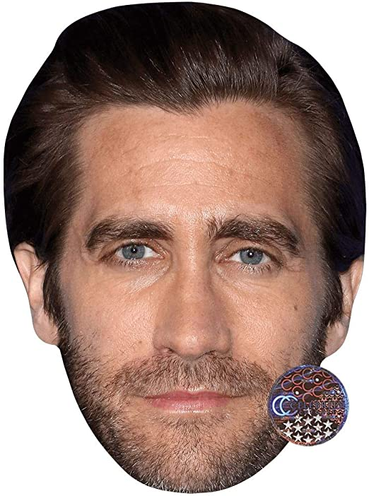 Card Face and Fancy Dress Mask Jake Gyllenhall Celebrity Mask