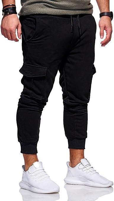 VPASS Pantalones Hombre, Pantalones Casuales Moda Deportivos Color ...