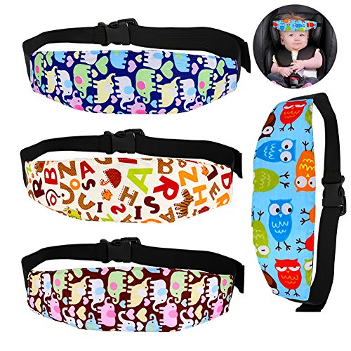 Accmor 4 Pcs Infants and Baby Head Support, Safety Car Seat Neck Relief, Offers Protection and Safety for Kids from accmor