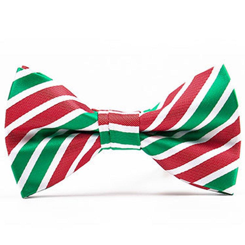 Men Bow Tie Pre-tie Adjustable Neck Strap Christmas Wedding Jacquard Weave Fashion