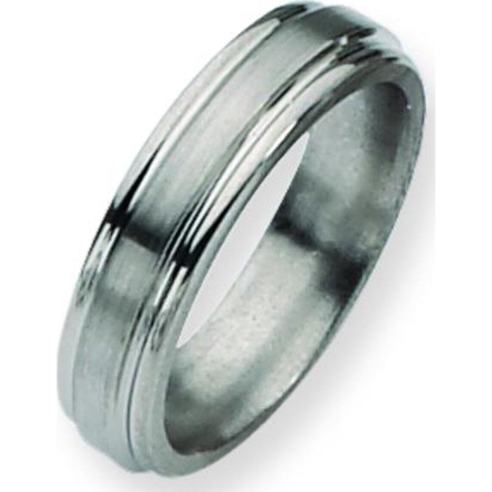 Titanium Grooved 6mm Mens Wedding Ring Band Sz 13.5