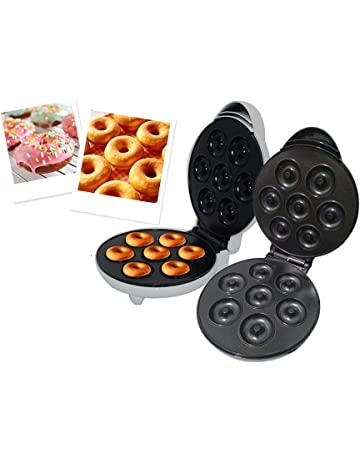 talogca Máquina para Hacer Donuts o Rosquillas, Placa Ant 1200 W, Blanco,Negro