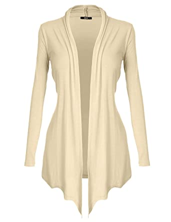 DRSKIN Women's Open - Front Long Sleeve Knit Cardigan (S~5XL) at ...