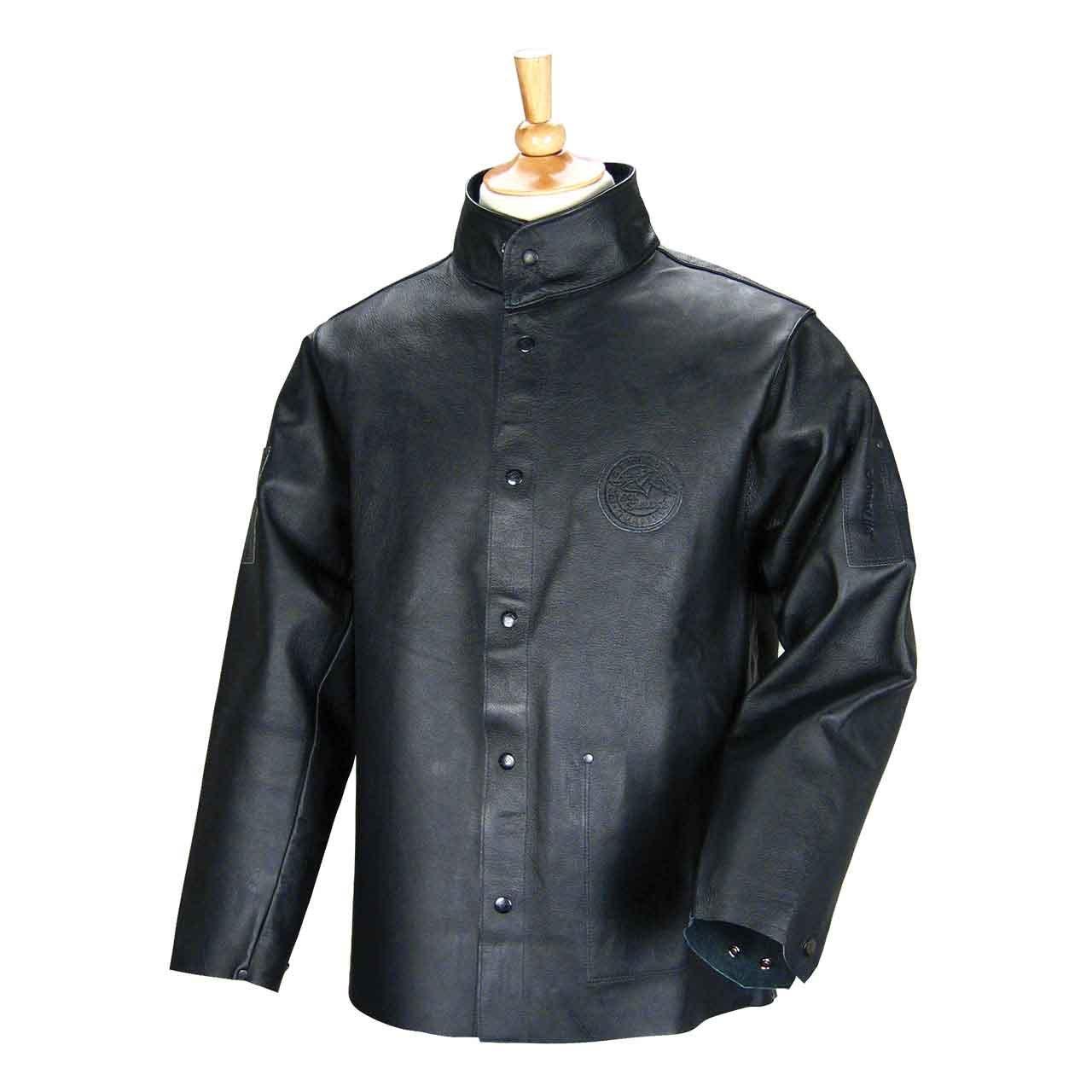 DuraLite Premium Grain Pigskin Welding Coat - 30'' (Black, Size X-Large)