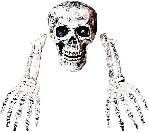 Amazon De Kylewo Halloween Dekoration 3 Stuck Halloween Grausigkeit Begraben Lebend Skelett