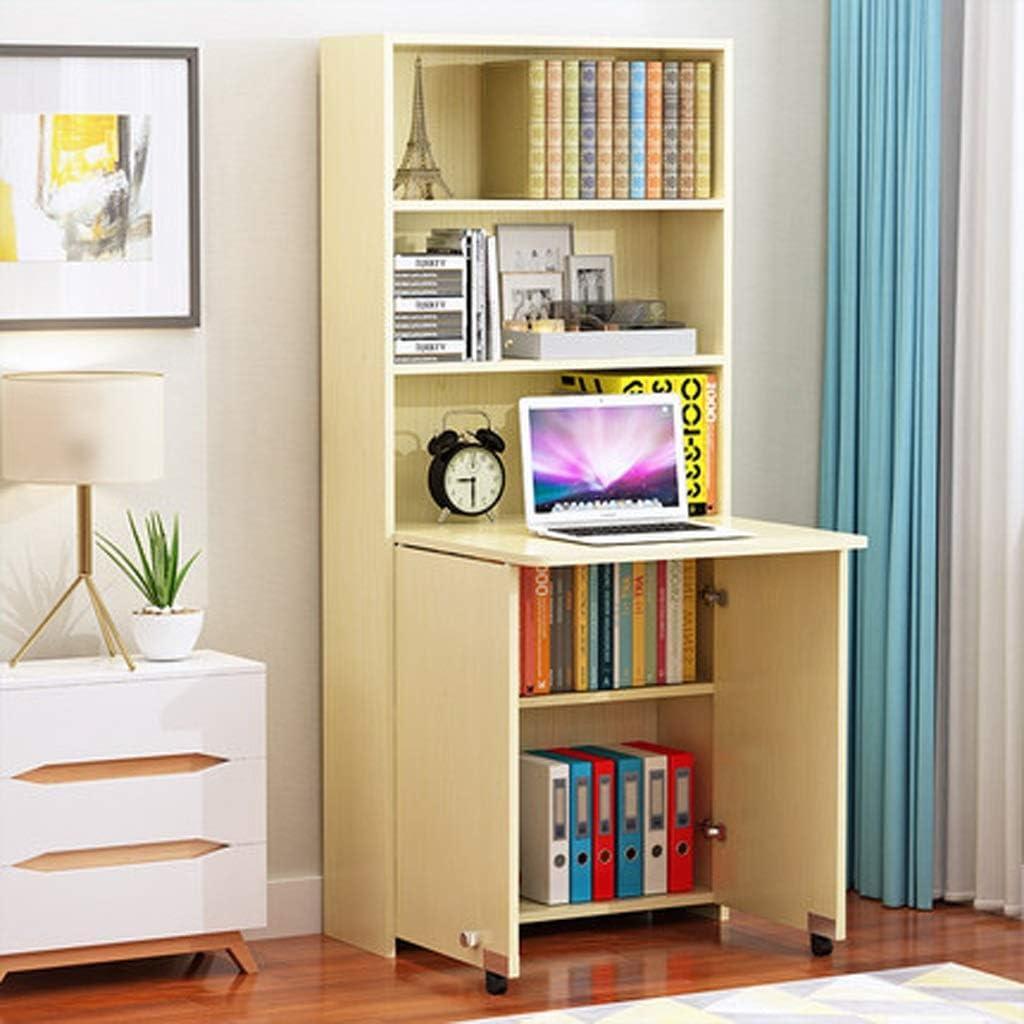 折りたたみテーブルデスク本棚部屋学生机シンプルな机、本棚統合折りたたみテーブル SPFOZ (Color : B)