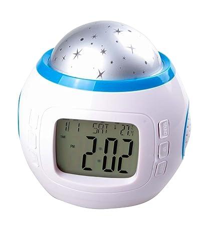 Room Sky Star Led Night Light Projector Lamp Bedroom Music Date Time Alarm Clock Quality First Alarm Clocks