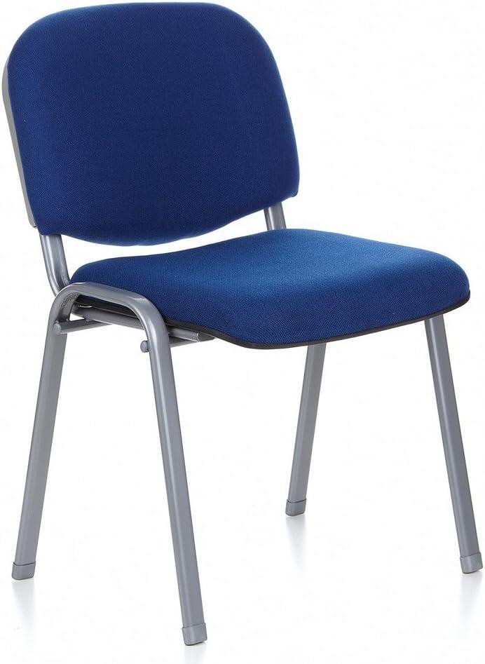 HJH Office XT 600 Silla de confidente Azul/Plateado 83 x 50 x 57 cm