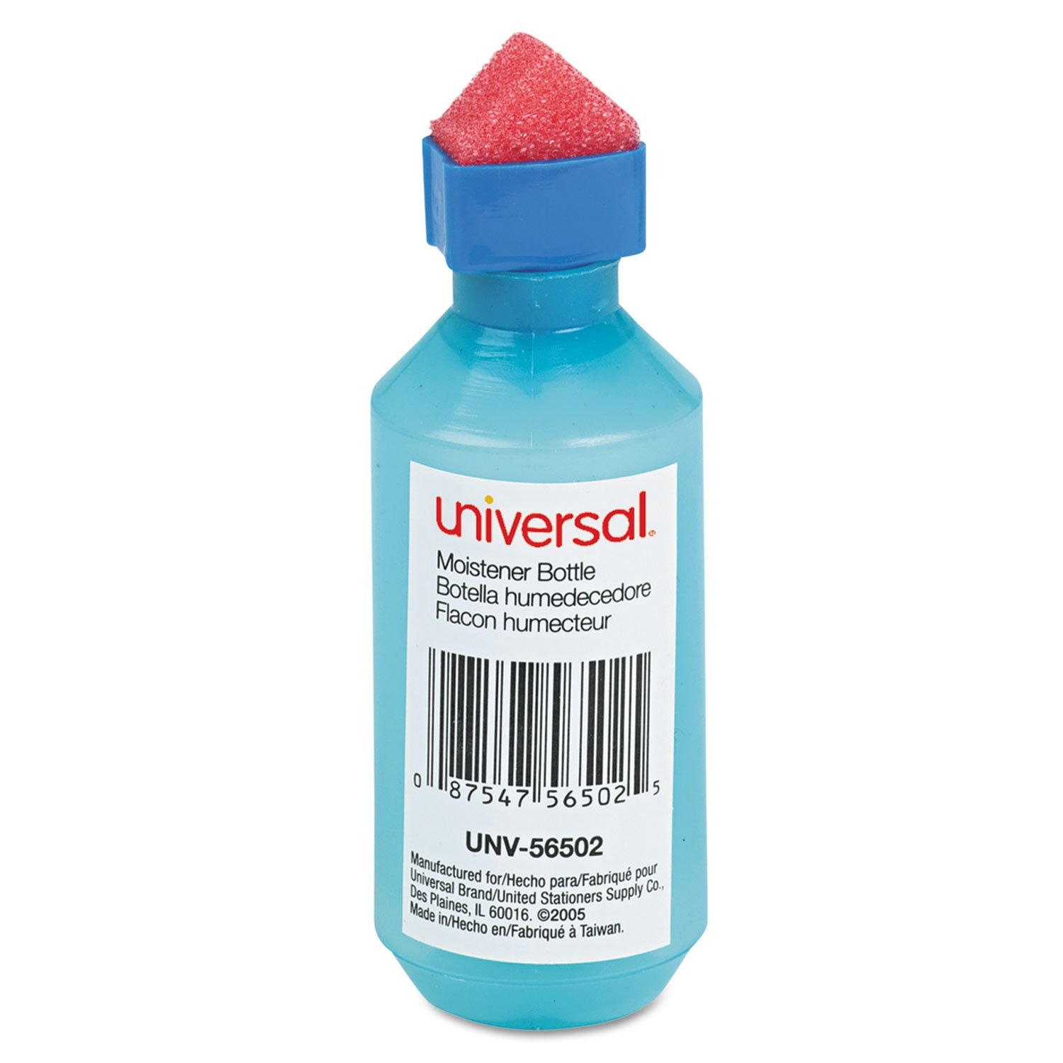 Universal 56502 Squeeze Bottle Moistener, 2 oz, Blue UNIVERSAL OFFICE PRODUCTS UNV56502-JA