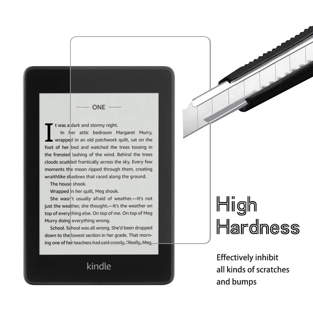 1 Pack 9H Hardness Tempered Glass for Kindle Paperwhite 2018 Jbao Direct All-new Kindle Paperwhite 2018 Matte Screen Protector, Scratch Resistant Bubble Free 10th Generation Ultra Clear