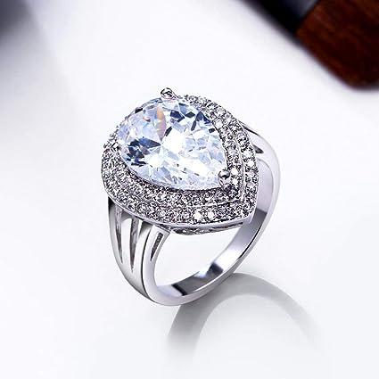 47a00216036d2 Amazon.com: Pratinthip Solitaire CZ Wedding Ring for Women Bagues ...