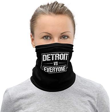 Multifunctional Bandanas /& Balaclava for Outdoor Sports Neck Gaiter Tube Detroit Face Scarf